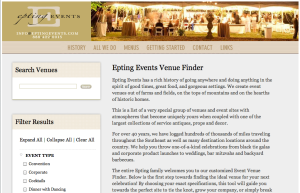 Venue Finder Homepage
